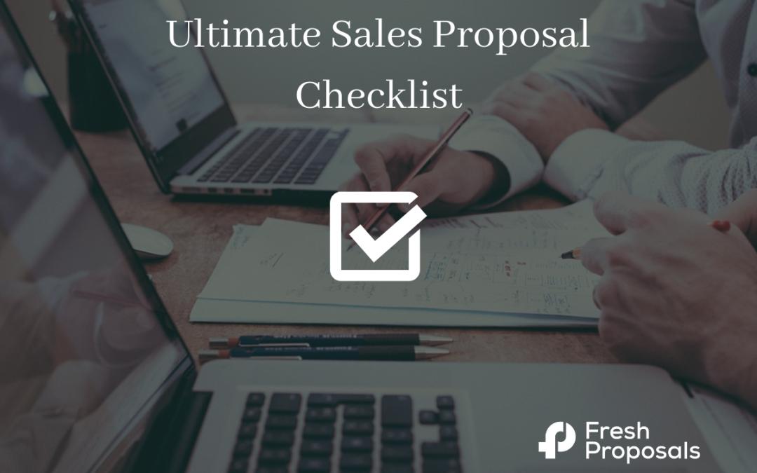 Sales Proposal Checklist