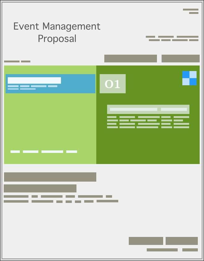 Event Management Proposal Templates